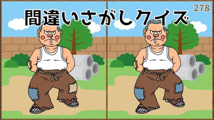【間違い探し】イラスト編!脳の老化予防に最適なゲーム問題【頭の体操】#278
