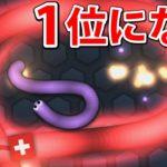 ヘビが食べ続けて大きくなるゲームで1位になる!【Slither.io】
