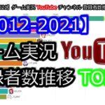 【2012-2021】ゲーム実況YouTubeチャンネル登録者数推移TOP15