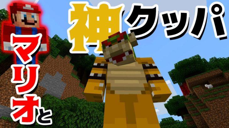 【ゲーム遊び】マイクラ マリオと神になったクッパ!? マインクラフト【アナケナ&カルちゃん】Minecraft