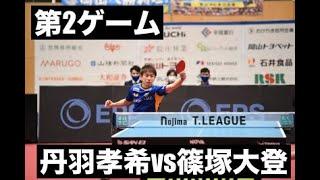 丹羽孝希vs篠塚大登 第2ゲーム(2020/12/10)Tリーグ・岡山リベッツvsT.T彩たま