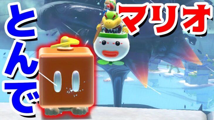 【ゲーム遊び】#04 フューリーワールド プロペラボックスマリオで飛んでいこう!クッパのアミーボは要注意だねw【アナケナ&カルちゃん】Super Mario Fury World