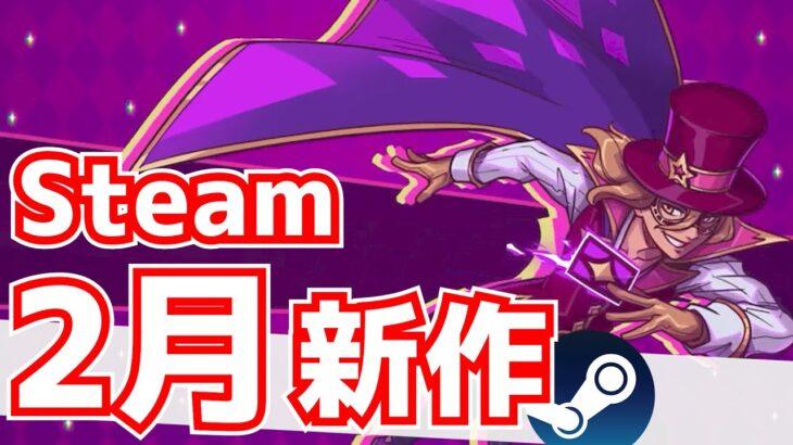 【Steam新作】2月新作のインディーゲームみていくよ~!!!