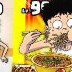 細い人をとんでも大食いに進化させるゲームが面白すぎた!! YouTubeで人気の大食いの広告ゲームにチャレンジしてみた!!【 Food Fighter Clicker 】