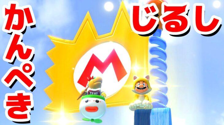 【ゲーム遊び】#06 フューリーワールド かんぺきじるしのネコマリオ旗! 溶岩で大苦戦w【アナケナ&カルちゃん】Super Mario Fury World