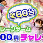 ミニクレーンゲーム1000円チャレンジ ✨  三姉妹はいくつ取れるかな❓【全60台】☆ Saaaaaya