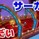 【ゲーム遊び】#5 スーパーマリオ3Dワールド 1-5 すべり台サーカス はじめての3Dワールドを2人でいくぞ!【アナケナ&カルちゃん】Super Mario 3D World