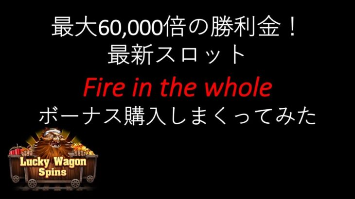 【オンラインカジノ】最新Fire in the wholeのボーナス購入しまくってみた