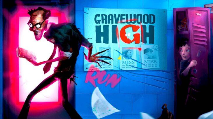 最恐の教師が徘徊する学校からの脱出ホラーゲーム「Gravewood High」
