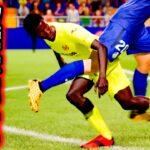 ゲームシステムの壁を超えたラフプレーをするゴミクズ選手【FIFA21,ジョンソン#22】
