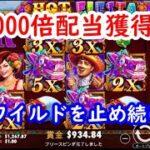 【オンラインカジノ】1000倍配当獲得!動くワイルドで高配当を導け!【HOT FIESTA】