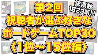 第2回視聴者が選ぶ好きなボードゲームTOP30【1位~15位編】
