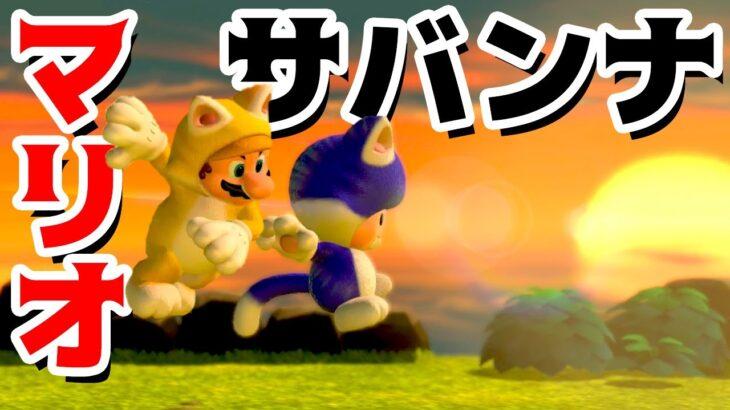 【ゲーム遊び】#32 スーパーマリオ3Dワールド 5-4 マリオサバンナでかけまわる! はじめての3Dワールドを2人でいくぞ!【アナケナ&カルちゃん】Super Mario 3D World