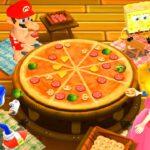 【マリオパーティ9】ミニゲームマリオVsピーチVsソニックVsスポンジ・ボブ(COM最強 たつじん)