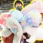 【1万円】クレーンゲームで巨大景品狙ったら爆取れした!