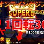 #260【オンラインカジノ スロット😻】スロット1回転$30資金作れるか?! $1000開始の旅inカジノイン①