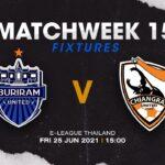 ライブ配信!!! Buriram United vs Chiangrai F.C. (東京ヴェルディeスポーツ)  | E-LEAGUE 2021 | MATCHWEEK 15
