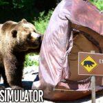 危険すぎる「クマに襲われるキャンプゲーム」で奇跡が起きて爆笑する男たち【 Camping Simulator 】