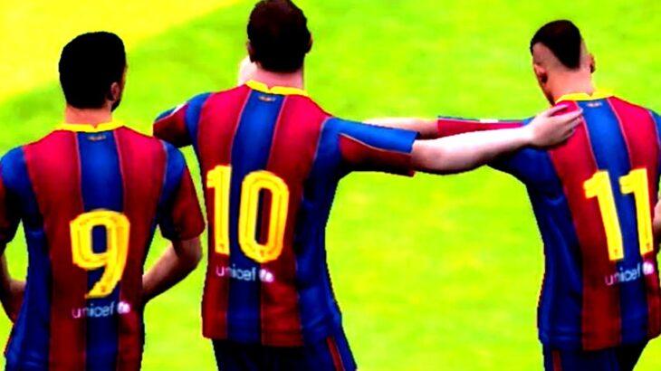 【MSN】伝説の最強バルセロナ3トップメッシスアレスネイマール時代完全再現してみた【ウイイレアプリ2021】
