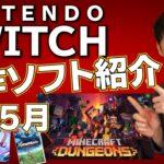【スイッチ新作ゲーム紹介】2020年5月、マイクラの新作が遂に登場!