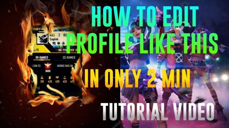 NEW FF PROFILE EDIT IN PicsArt  TUTORIAL VIDEOS   LK E-SPORTS FF