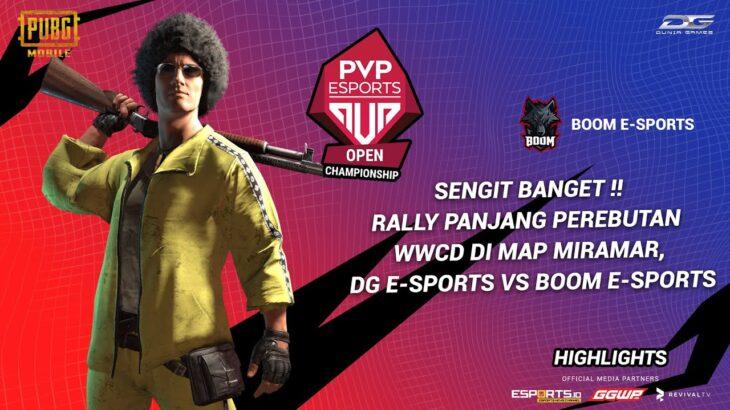 SENGIT BANGET !! Rally Panjang perebutan WWCD di map Miramar, DG E-sports vs Boom E-sports !
