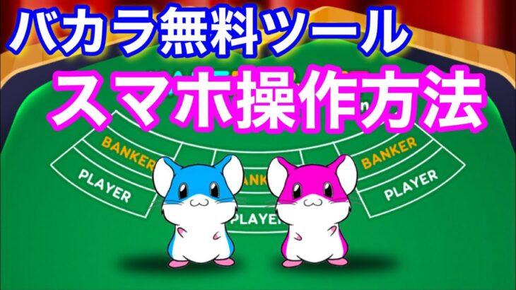【バカラ無料ツール】スマホでの操作方法「KAKERU&BET」オンラインカジノBeeBet