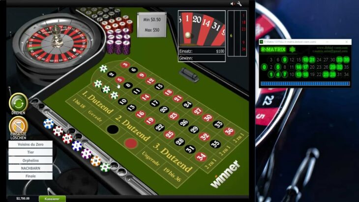 ルーレットR-マトリックスソフトウェア戦略は、今日、ルーレットカジノで2270ユーロの利益をもたらします💯